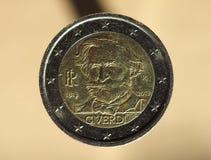Münze des Euros 2, Europäische Gemeinschaft Lizenzfreies Stockbild