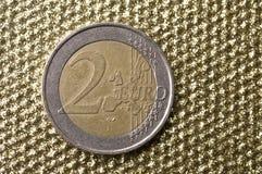 Münze des Euros zwei Lizenzfreie Stockfotografie