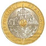 Münze des französischen Franken 20 Lizenzfreies Stockfoto