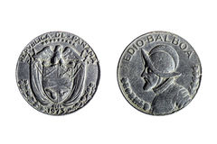 Münze des halben Balboa Lizenzfreie Stockfotos