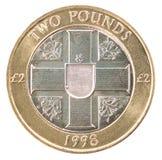 Münze des Pfund zwei Stockfotografie