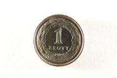 Münze des Polnischen eins Lizenzfreies Stockbild