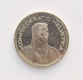 Münze des Schweizer Franken (CHF) Lizenzfreies Stockbild