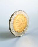 Münze des thailändischen Baht 10 Stockfoto