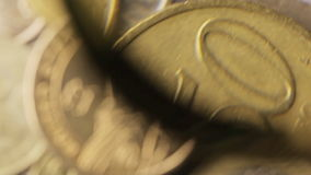 Münze ein Dollar stock footage