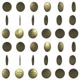 Münze für Animation 3 d Lizenzfreie Stockfotografie