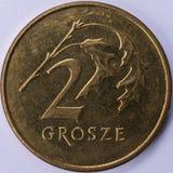 Münze 2 Grosze-Front Lizenzfreies Stockfoto