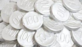 Münze häufen oben an Stockbilder