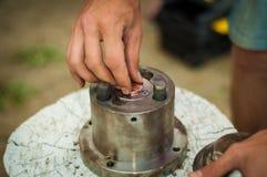 Münze handcraft lizenzfreies stockfoto