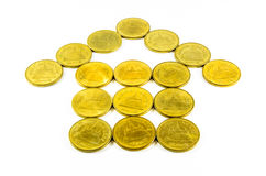 Münze, Haus, Satz Lizenzfreies Stockfoto