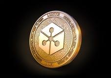 Münze Lunyr - Cryptocurrency Wiedergabe 3d vektor abbildung