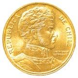 Münze mit 10 chilenischen Pesos Lizenzfreie Stockbilder