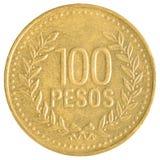 Münze mit 100 chilenischen Pesos lizenzfreie stockbilder