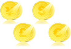 Münze mit Dollar Lizenzfreie Stockfotos