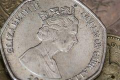 Münze mit 50 Stiften stockfoto