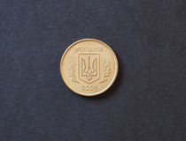 Münze mit 10 ukrainische hryvnia Kopeken Lizenzfreie Stockbilder