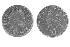 Münze mit zehn Pennys Lizenzfreie Stockfotografie