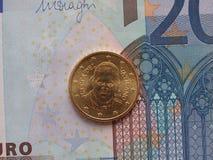 Münze Papstes Francis I Lizenzfreies Stockfoto