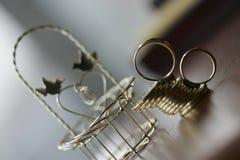 Münze Ring und arrhae Stockfoto