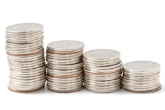 Münze Rouleau stockfoto