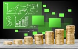 Münze, Stapel, Kapital Lizenzfreie Stockfotos