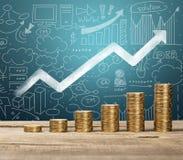 Münze, Stapel, Kapital Lizenzfreies Stockfoto