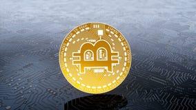 Münze von bitcoin cryptocurrency vektor abbildung