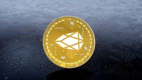 Münze von EOS-cryptocurrency lizenzfreie abbildung