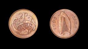 Münze von Irland. Jahrhundert XX Lizenzfreie Stockfotos