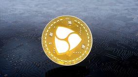 Münze von OHNE GEGENSTIMMEN cryptocurrency vektor abbildung