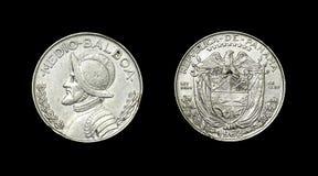 Münze von Panama mit Bild des Admirals Medio Balboa Lizenzfreie Stockfotografie