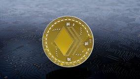 Münze von Startis-cryptocurrency lizenzfreie abbildung