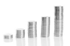 Münze zum Geld Stockbild