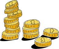 Münzen stock abbildung