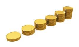 Münzen-Balkendiagramm Stockbild