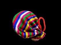 Münzen-Beutel mit Regenbogen-Farbe. lizenzfreie stockfotos