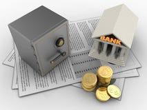 Münzen 3D Lizenzfreies Stockbild