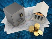 Münzen 3D Stockfoto