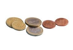 Münzen, der Euro, Geld, Isolat Stockfotografie