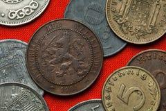 Münzen der Niederlande Stockfotos