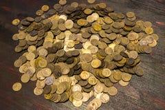 Münzen der UDSSR Verschiedene Produktionsjahre und unterschiedlicher Stempel Lizenzfreies Stockbild