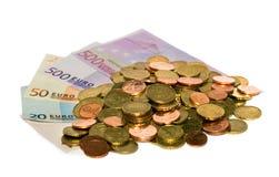 Münzen des Eurobargeldes lizenzfreies stockfoto