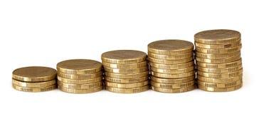 Münzen-Diagramm lizenzfreie stockbilder