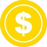 Münzen-Dollar-Ikonen-Illustration Stockfotos
