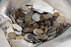 Münzen für Abgassammler Lizenzfreies Stockbild