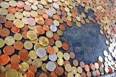 Münzen für Glück. stockfoto