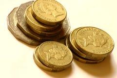 Münzen gestapelt Stockbild