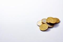 Münzen gestapelt Stockfotografie