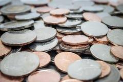 Münzen, Haufen von Münzen Stockbild