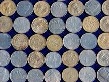 Münzen-Hintergrund Stockfotografie